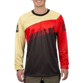Bikeunit Pro DH Downhill-trøje Herrer rød/sort